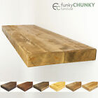 Floating Shelves Chunky Solid Rustic Wood Available in Custom Sizes 12x2