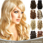 "Внешний вид - OneDor 20"" Curly Full Head Synthetic Clip in Hair Extensions Hairpieces 7 Pcs"