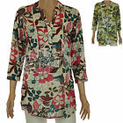 New Ladies Womens Marks & Spencer Leaf & Floral Print Cotton Tunic Kaftan Top