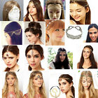 Chic Elegant Women  Metal Rhinestone Head Chain Jewelry Headband Head Hair band