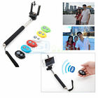 Selfie Monopod Self Portrait Bluetooth Remote Control Shutter For Android iPhone