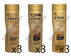 3 x DOVE SUMMER GLOW NOURISHING LOTION SOFT SHIMMER FAIR MEDIUM DARK SELF TANNER