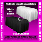 White or Black Many Sizes Table Skirting Skirt Cloths Wedding Events Tablecloths