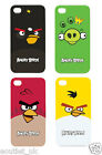 Angry Birds Hard Shell Snap On Case Cover iPhone 4 4S Red Green Yellow Black Pig