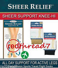 New Sheer Relief Support Graduated Compression Sports Travel Flight Socks Veins
