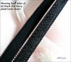 "5m 2m 1m x 13mm FANCY BLACK Sheen SATIN 1/2"" ELASTIC Stretch Bra Strap tape"