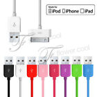 Colour USB Data Sync Charger Cable Lead For iPod Nano 1st 2nd 3rd 4th Generation