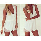 Hot Sexy Women Lace Playsuit Party Evening Summer Backless Dress Jumpsuit Shorts
