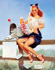 Vintage Pin Up Girls Retro Burlesque Erotic Prints & Posters A1,A2,A3,A4 Sizes