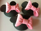 6 EDIBLE MICKEY AND MINNIE 3D HEADS CUPCAKE TOPPERS CAKE DECORATIONS BIRTHDAY