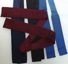 Vintage square end ties FOUR IN HAND original teddy boy SHORT solid colour