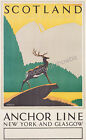 Vintage Scotland Travel Advertisement print poster-4 large sizes available