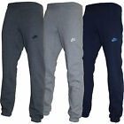 Original Nike Mens Fleece 3D Logo Cuffed Jogging Bottoms Pant Straight Trousers