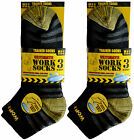 NEW 6/12 PAIRS MENS ULTIMATE WORK REINFORCED HEEL AND TOE BOOT TRAINER SOCKS