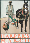 Vintage Harpers Art ad print poster, large 4 sizes available