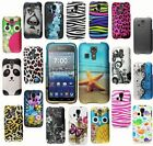 For Kyocera Hydro Icon C6730 Cover Design Hard Snap On Rubberized Case Accessory