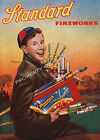 Vintage Standard Fireworks ad print poster, large 4 sizes available
