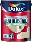 Dulux Weathershield Smooth Masonry Colours Paint ALL COLOURS 5 Litres