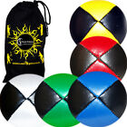 PU Leather Pro Thud Juggling Balls -  Set of  5 +Travel Bag