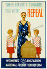 Vintage Women's vote art ad print poster, large 4 sizes available