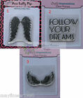 Crafty Impressions Clear Stamp FOLLOW YOUR DREAMS STEAMPUNK ANGEL WINGS assorted