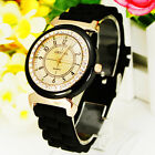 2 Colors Elegant Round Dial Design Crystal Girl's Women Jelly Quartz Watches CS2