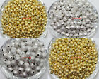 Wholesale Brushed Sand Frost Ball Bead Spacer Gold Silver Plated 4/6/8mm