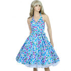 Vintage Retro Dancing Party Dress Rockabilly Swing Jive Polka Floral 50's Skirts