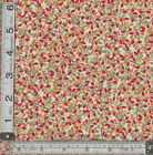 PATCHWORK/QUILTING/CRAFT FABRIC 100% COTTON MAKOWER JOLLY FARM LEAVES