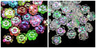 Mixed Acrylic Ab Flower Beads 10mm x 4mm Kids Craft Jewellery Beading Plastic ML