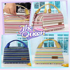 Stylish Waterproof Canvas Lunch Travel Insulated Cooler Tote Bag Handbag Picnic
