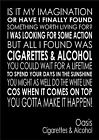 Cigarettes and Alcohol Oasis - Word Wall Art Typography Words Song Lyric Lyrics