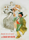 Le Cacoa Von Houten Vintage advertisement print poster, 4 sizes available