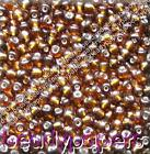 50g - 70g Glass Seed Beads Silver Lined 6/0 3mm Amber Brown 6089