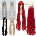110 cm Long Curly Lady Girl Anime Cosplay Hair Wig Red/Silvery/White/Black/Gold