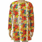 New Childrens Girls ex Mini Boden Red Blue Floral Jersey Tunic Dress Casual
