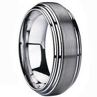 Mens Ladies Tungsten Carbide Engagement Wedding Ring Band 3D Layer 8mm