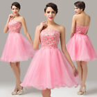 Sweet Bridesmaid Prom Dress Girl Graduation Party Formal Evening Celeb Ball Gown