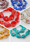 Bulk 10pcs 20mm Flower Glass Crystal Twist Helix Lampwork Beads Spacer Charms