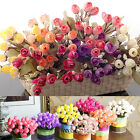 Bouquet Artificial Silk Roses Flowers Home Garden Wedding Gift Decoration