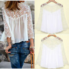 2014 Hot  Lady Women Fashion Casual Lace hirts Blouses T Shirt Tops B