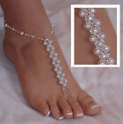 Pearl Barefoot Anklets Fashion  Barefoot Sandal  Beach  Jewellery Chain  Cool