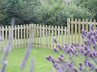 Round Wood Top pickets Garden Fence Picket Pales For Panels - CHOOSE SIZE & TOPS