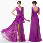 Elegant Sexy V Wedding Prom Evening Party Gown Ball Bridesmaid Formal Long Dress