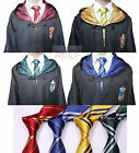 Harry Potter Kids Adult Robe Cloak CapeGryffindor Slytherin Hufflepuff Ravenclaw