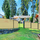 8'x50' Feet Fence Privacy Screen Windscreen Mesh Fabric Cover Slat With/Zipties