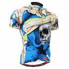 FIXGEAR mens cycling bike skull jersey bicycle shirts outdoor team top S~3XL