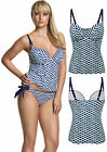 Panache Cleo Lucille Moulded Plunge Tankini Top CW0061 Navy Blue White Nautical