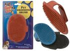 DOG PET RUBBER GROOMING BRUSH/PAD-GLOSSY COAT- IDEAL FOR TERRIERS-RED/BLUE/BLACK