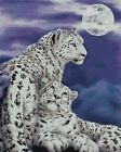 SNOW LEOPARD PAIR - CROSS STITCH CHART